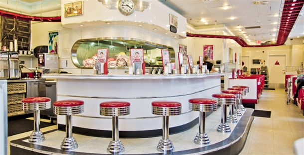 Ruby's Diner 50s Classic Diner theme.